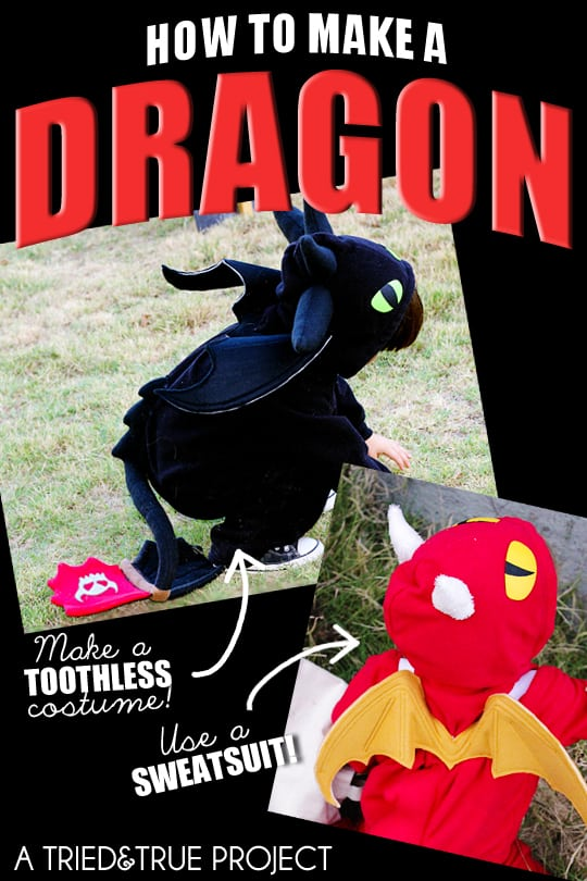 How To Make a Dragon Costume From a Sweatsuit!