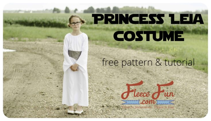 DIY Princess Leia Costume Free Pattern Tutorial
