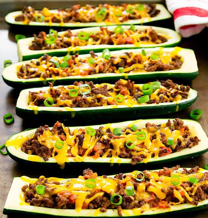 Taco Zucchini Boats