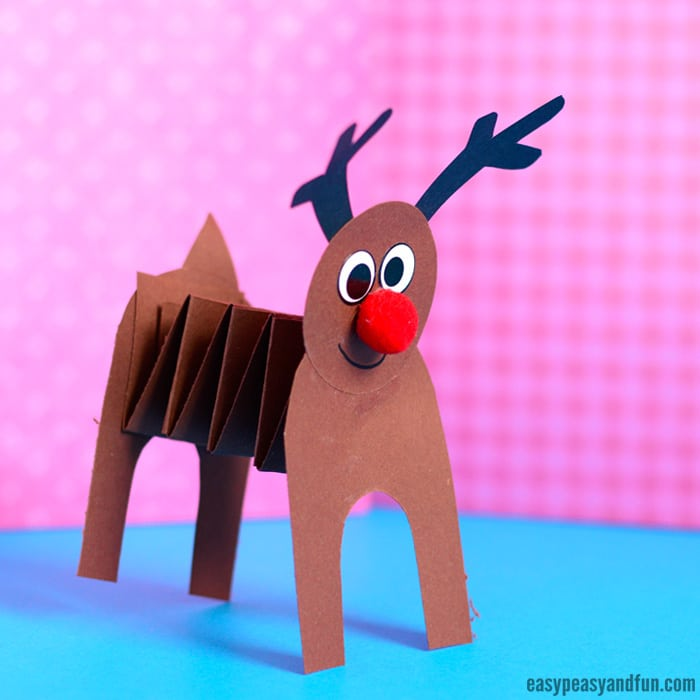 Accordion Paper Reindeer Craft