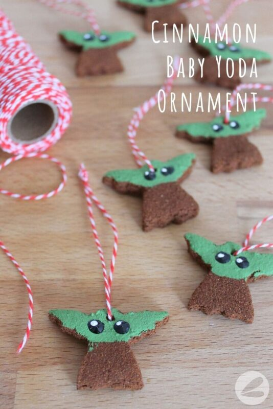 cinnamon baby yoda ornament