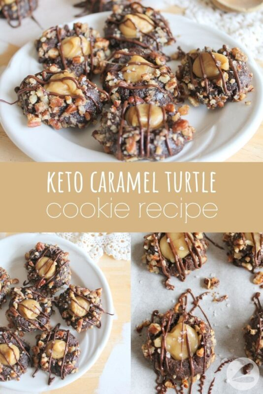 Keto Caramel Turtle Cookie Recipe