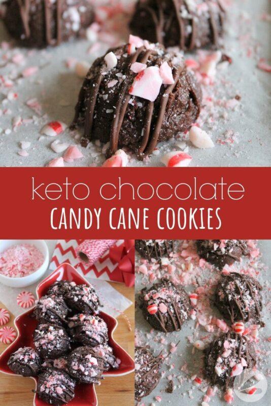 Keto Chocolate Candy Cane Cookie Recipe