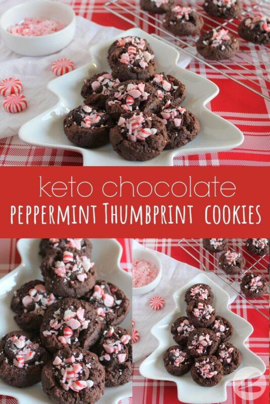 Keto Chocolate Peppermint Thumbprint Cookie Recipe