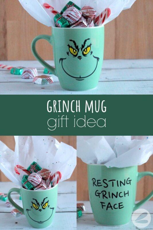 grinch mug holiday gift idea