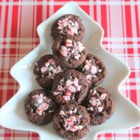 Keto Chocolate Peppermint Thumbprint Cookies