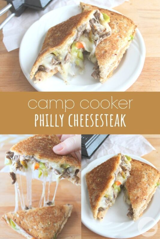 camp cooker philly cheesesteak