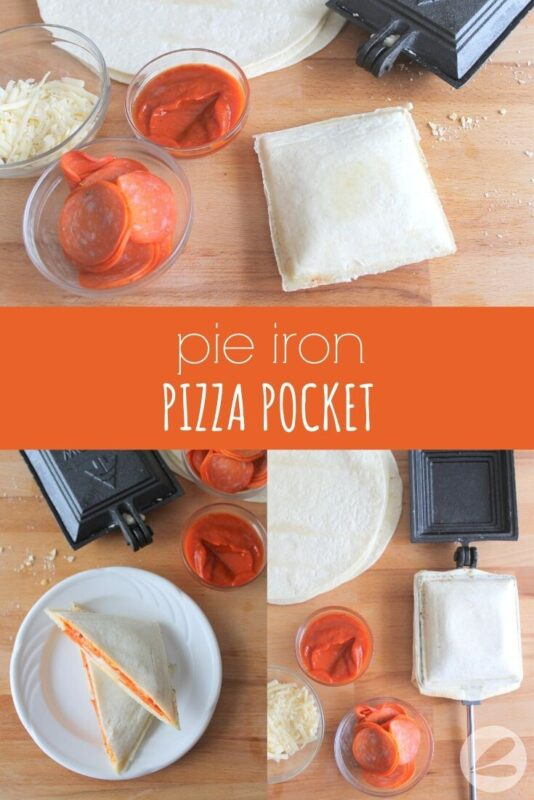 Pie Iron Pizza Pocket