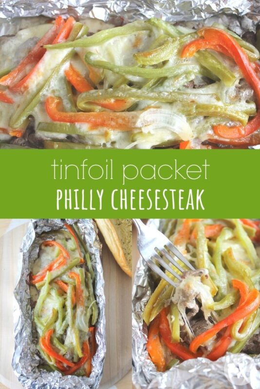 tinfoil packet philly cheesesteak
