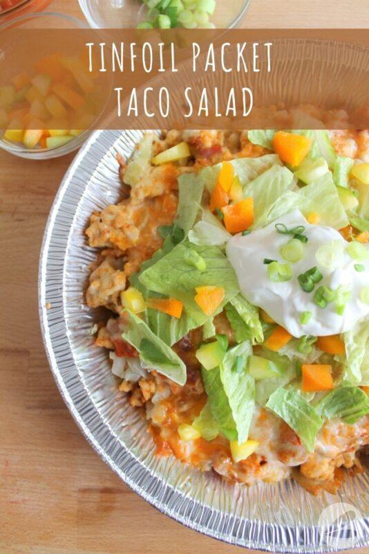 tinfoil packet taco salad