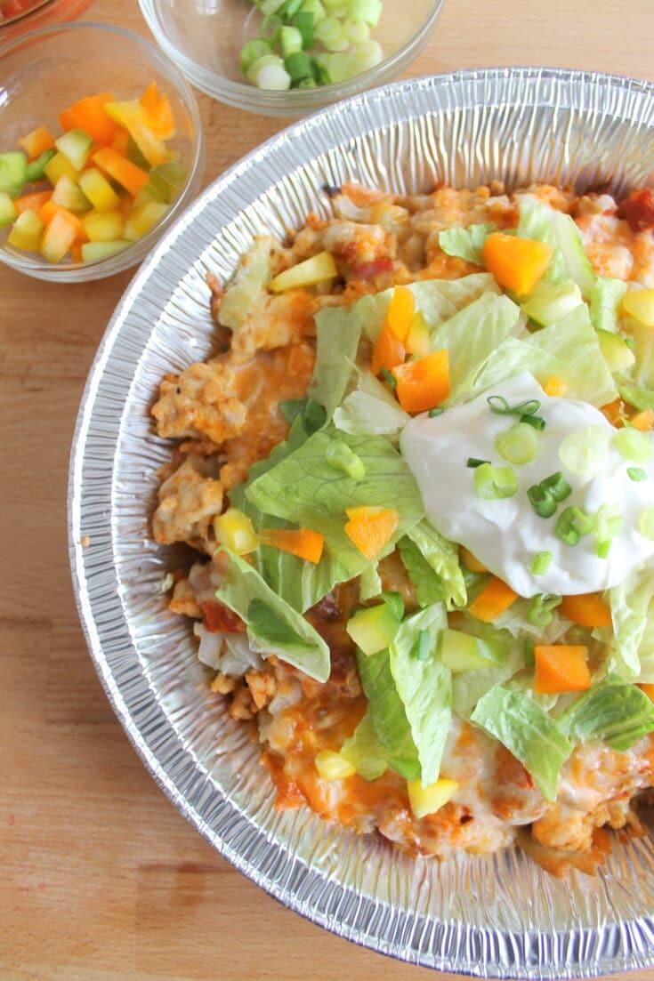 Tinfoil Packet Taco Salad Recipe