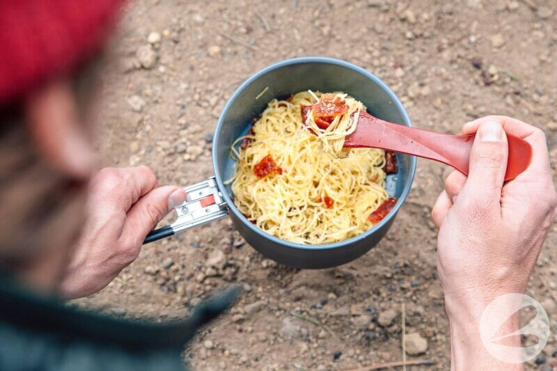 backcountry carbonara one pot backpacking recipe