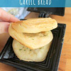 camp cooker garlic bread