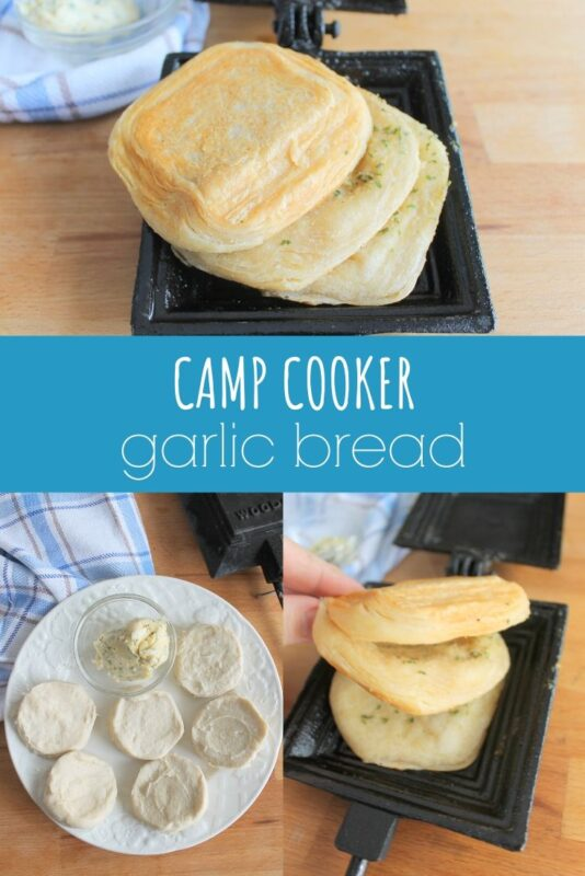 camp cooker garlic bread recipe