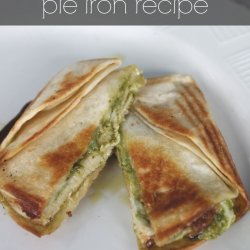chicken pesto pocket pie iron recipe