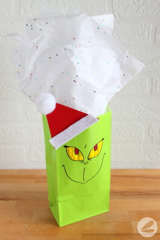 grinch paper bag craft