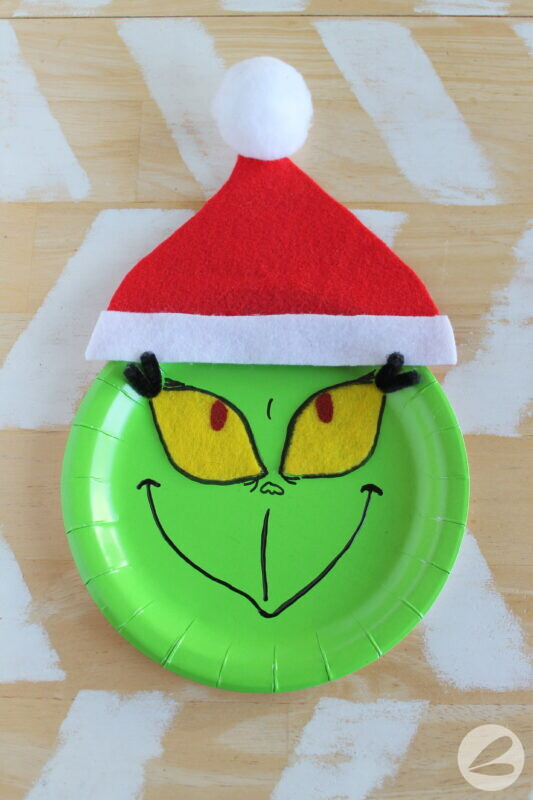 grinch paper plate craft