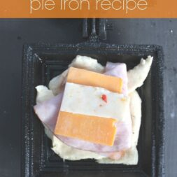 ham cheese crescent pie iron recipe