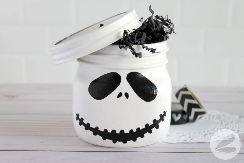 jack skellington mason jar craft