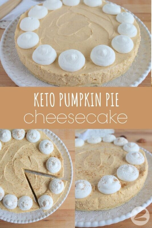 Keto Pumpkin Pie Cheesecake