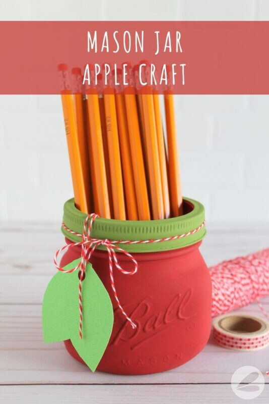 Mason Jar Apple Craft
