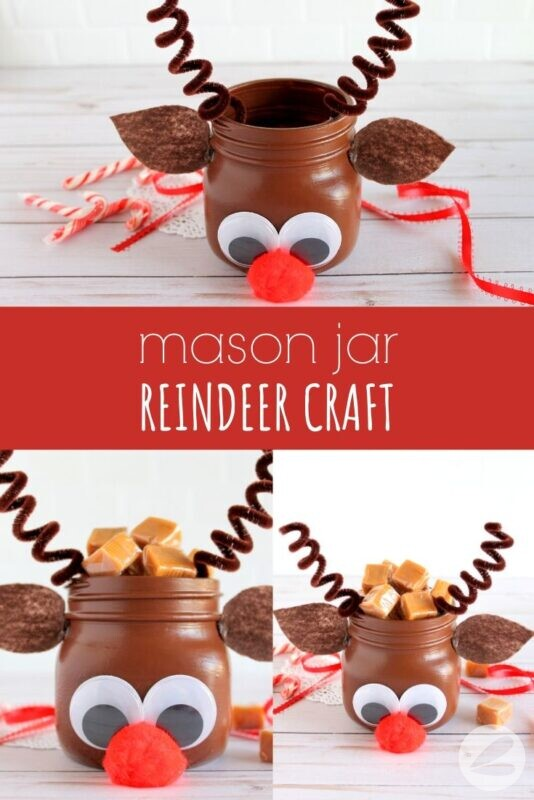 Mason Jar Reindeer Craft
