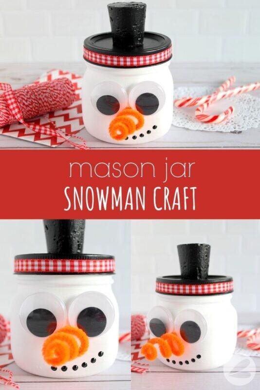 Mason Jar Snowman Craft