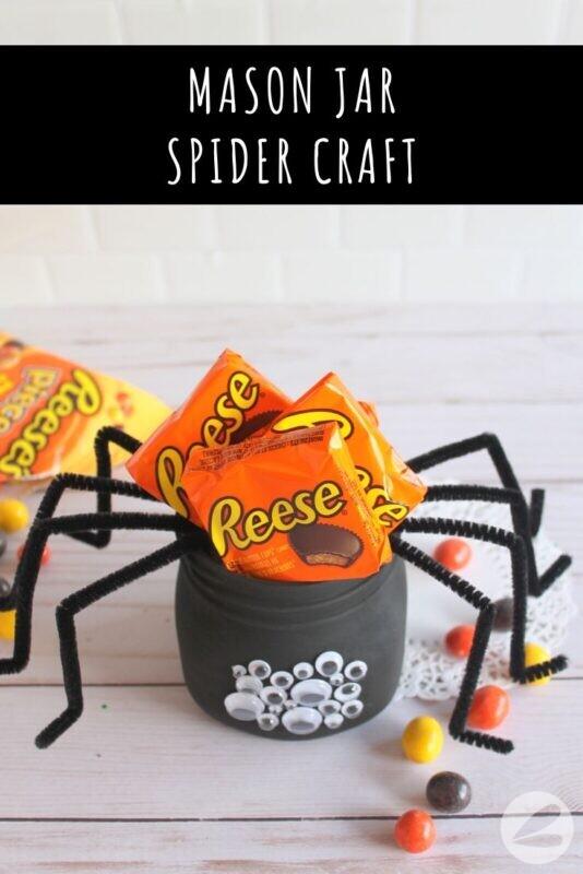 Mason Jar Spider Craft