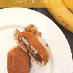 nutella banana biscuit pie iron recipe