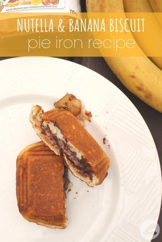 nutella banana biscuit pie iron recipe