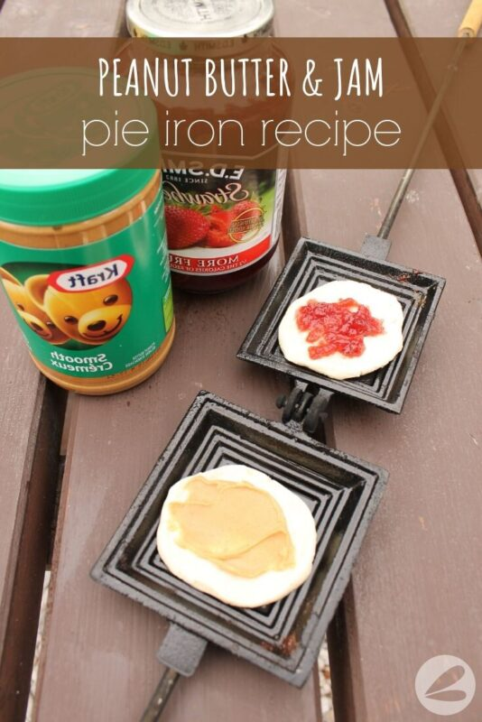 peanut butter jam pie iron recipe