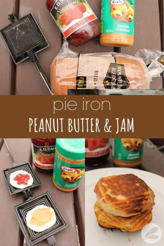 pie iron peanut butter jam