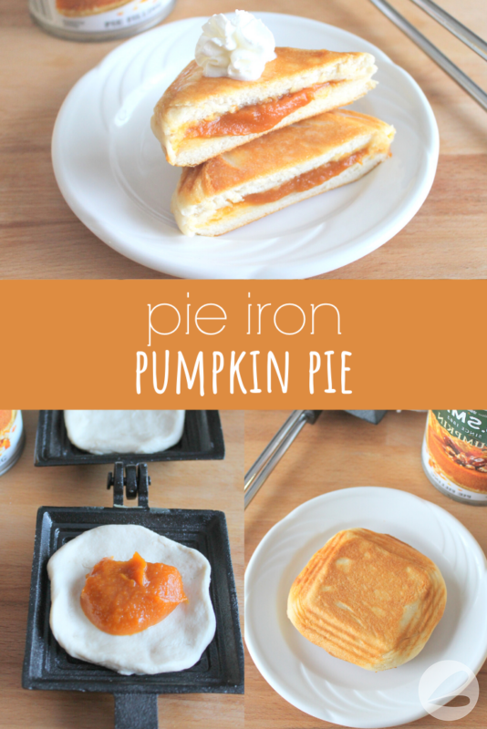 Pie Iron Pumpkin Pie