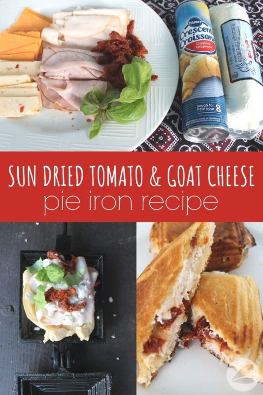 tomato goat cheese pie iron recipe