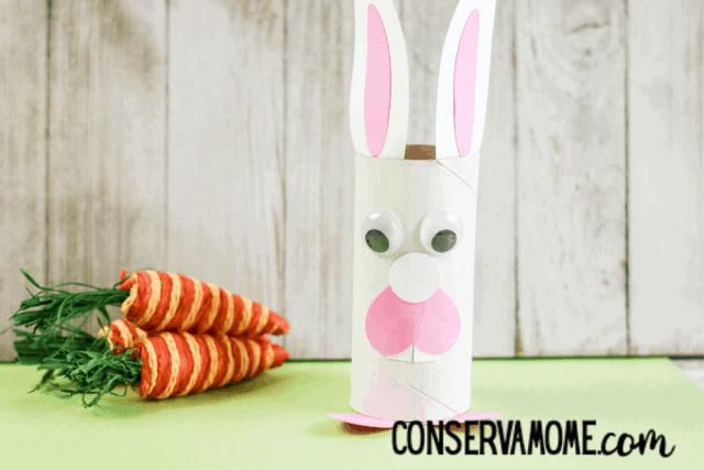 cardboard roll easter bunny x