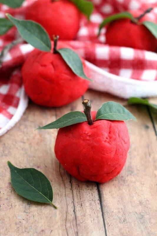 non toxic apple cinnamon scented playdough