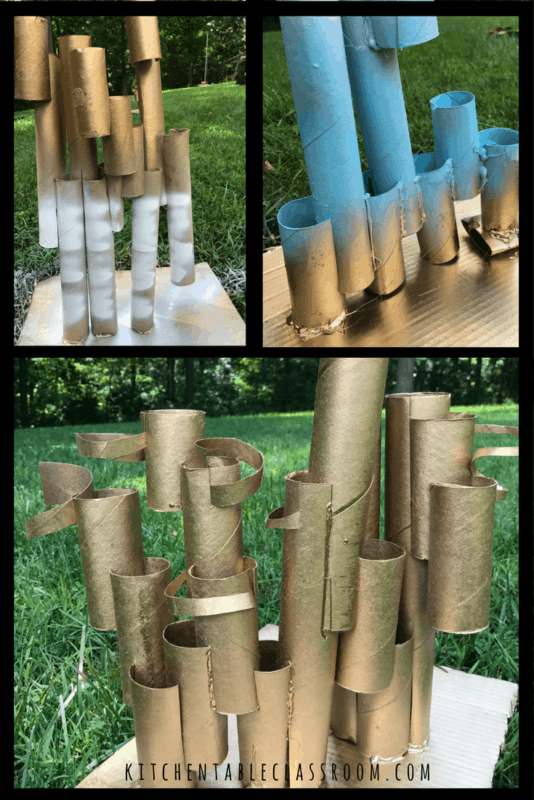 roll sculpture collage