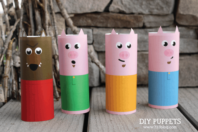 three little pig puppets