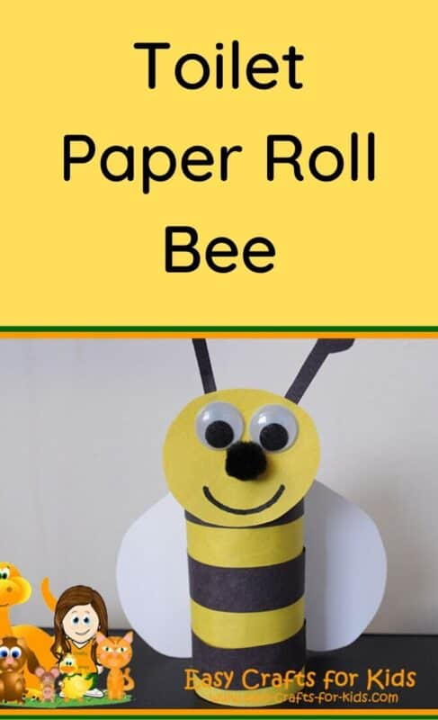 toilet paper roll bee crafts for kids