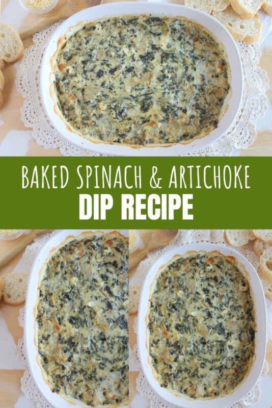 baked spinach artichoke dip recipe