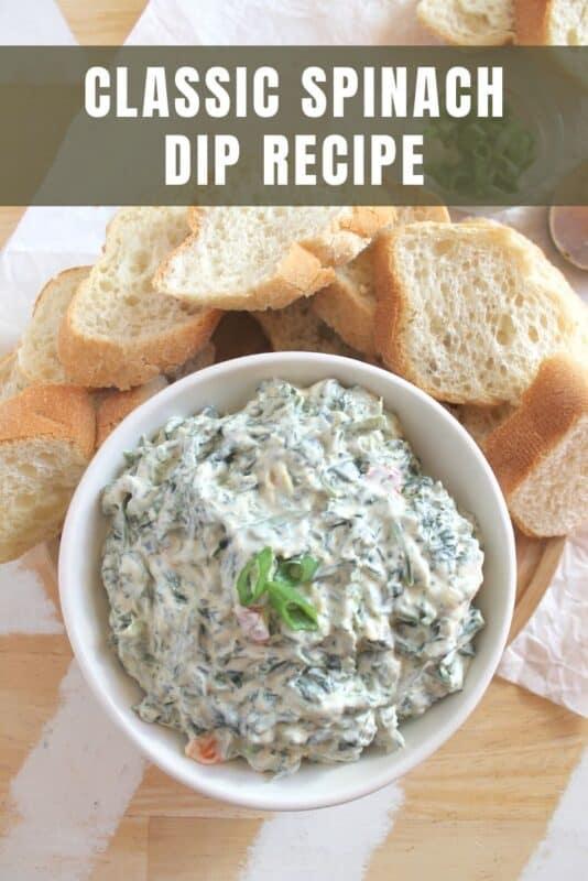 Classic Spinach Dip Recipe