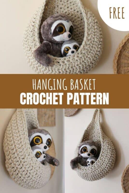 hanging basket free crochet pattern
