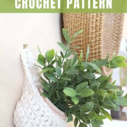hanging plant holder crochet pattern