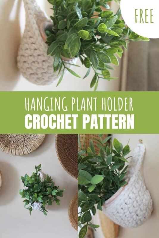 hanging plant holder free crochet pattern