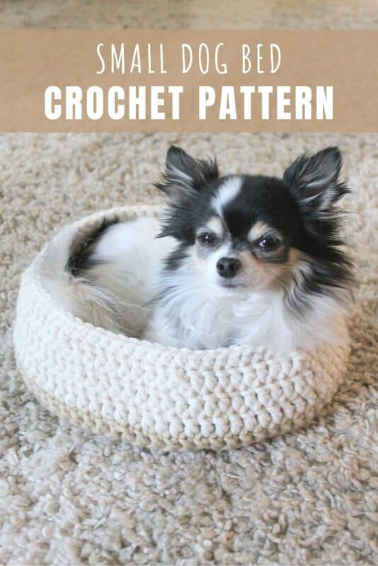 small dog bed crochet pattern