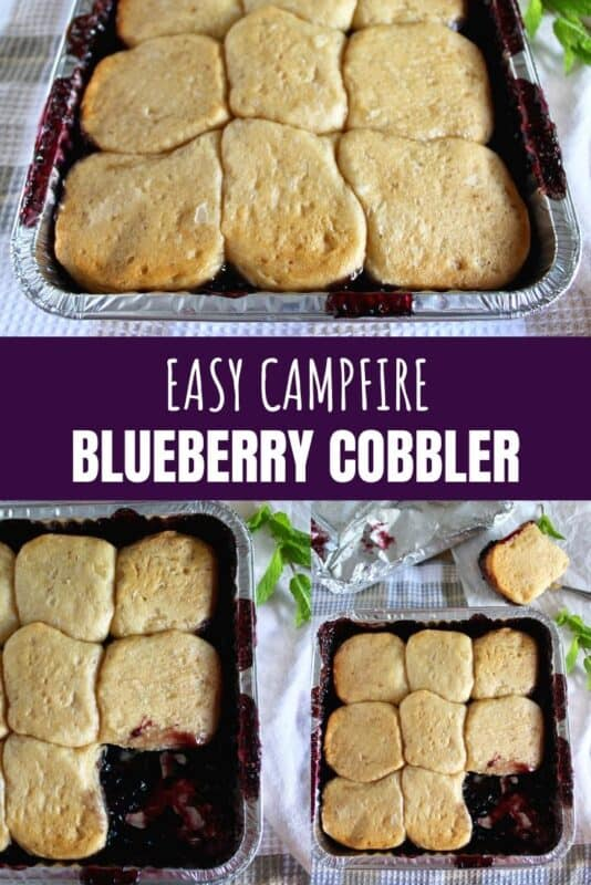 easy campfire blueberry cobbler recipe