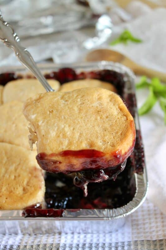 Campfire Blueberry Cobbler Recipe