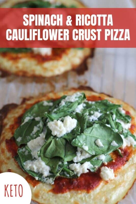 Keto Cauliflower Crust Pizza