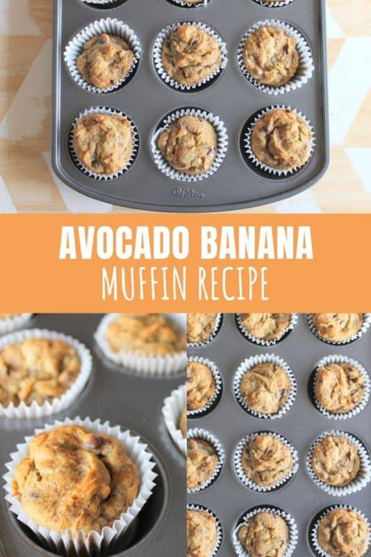 Avocado and Banana Muffin Recipe