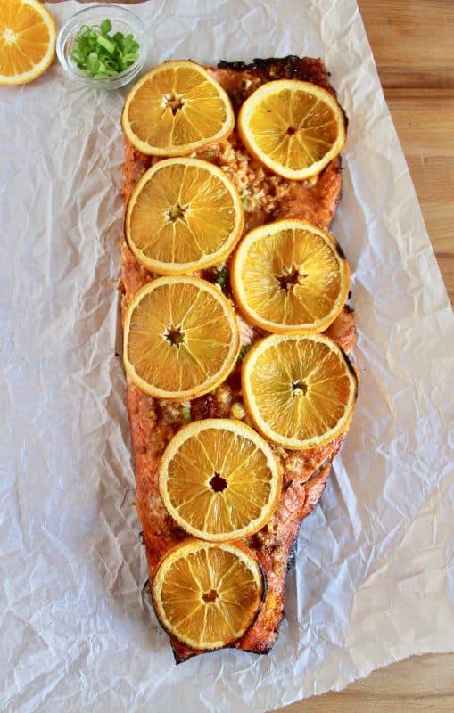 Orange Ginger BBQ Salmon